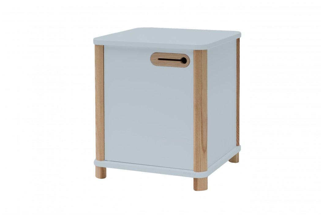 Cabinet din MDF si lemn de frasin Ashme Light Grey, L42xl42xh48 cm Noutati, Corpuri de Living