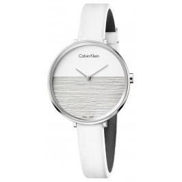Calvin Klein Rise Ceas Alb Argintiu