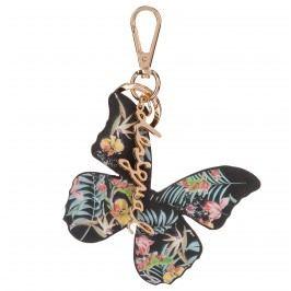 Desigual Butterfly Breloc pentru chei Negru Auriu Multicolor