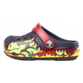 Crocs CrocsLights Fire Dragon Clog Crocs pentru copii Albastru