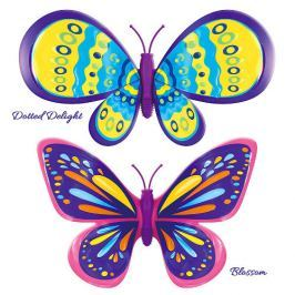 Set 2 Bucati Fluturasul Magic Blossom si Dotted Delight