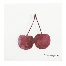 Servetele de hartie 'Cherry', Red / White