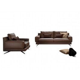Canapea fixa 3 locuri din piele Kennedy