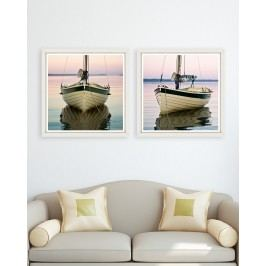 Tablou 2 piese Framed Art Boat Tranquil