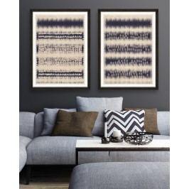 Tablou 2 piese Framed Art Indigo Patterns