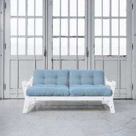 Canapea extensibila Step White/Light Blue