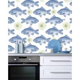 Set 3 role Tapet Imprimat Digital Fish Blue