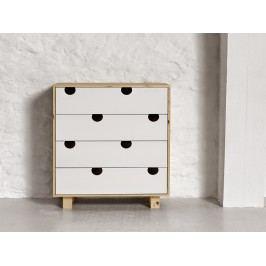 Cabinet cu 4 sertare House Nature/White, l40xL75xh90 cm