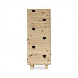 Cabinet cu 6 sertare House Nature, l40xL50xh130 cm