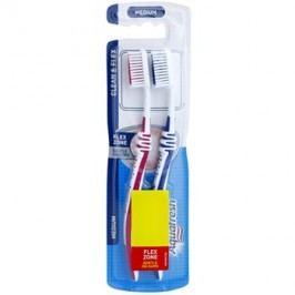 Aquafresh Clean & Flex periuta de dinti Medium 2 pc