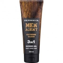 Dermacol Men Agent Extreme Clean gel de dus 3 in 1  250 ml
