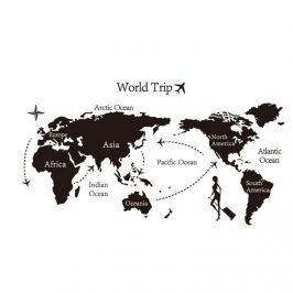 Decoraţiune autoadezivă World trip harta lumii