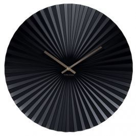 Karlsson 5657BK Ceas perete cu design, 40 cm