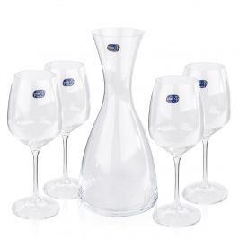 Bohemia Crystal Pahare pentru vin 4 buccu carafă Giselle, 1200 ml