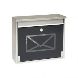 Cutie poştală din inox s tvrzeným sklem, negru