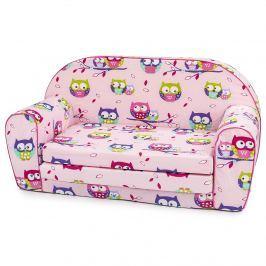 Bino Mini canapea roz Bufnițe