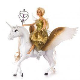 Păpuşă cu unicorn, alb