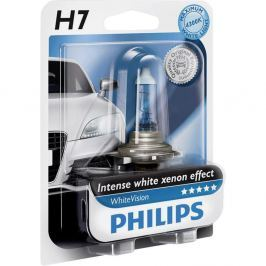 Bec auto halogen pentru far Philips WhiteVision H7 55W 12V 12972WHVB1