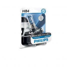 Bec auto halogen pentru far Philips WhiteVision HB4 55W 12V 9006WHVB1