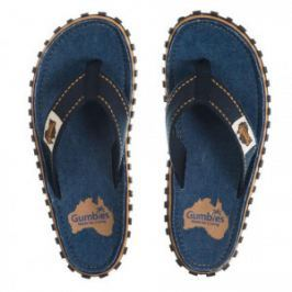 Slapi Flip Flop Gumbies, Islander Canvas, Dark Denim