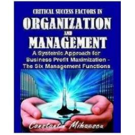 Critical Success Factors In Organization And Management - Constantin Mihaescu