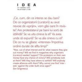 Revista IDEA arta+societate nr. 50